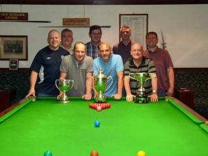 Clayton Liberal Team, with from L-R: Richard Palmer, Graham Chappell, Stuart Harker, Paul Viner, Paul Martin, Martin Smith, Steve Slater, Mark Slater, (missing Jason Murgatroyd)